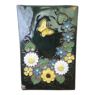 Mid-century Swedish Jie Gantofta Ceramic Wall Plaque