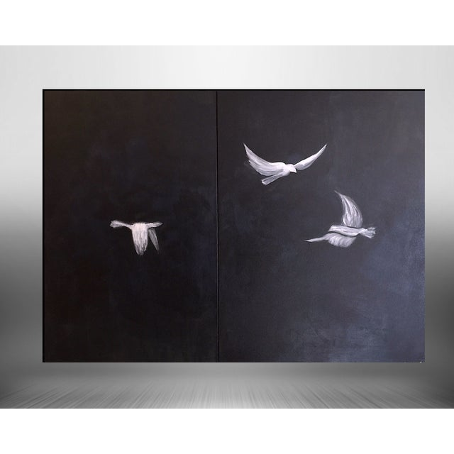 "Image of Bryan Boomershine ""Doves"" Acrylic Painting"
