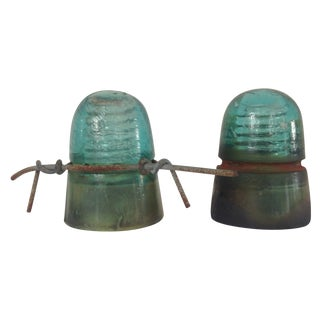Aqua Glass Transformer Tops - A Pair