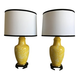 Frederick Cooper Lamps With Shades - A Pair