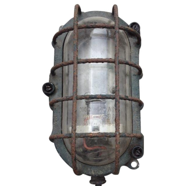 Industrial Explosion Proof Cage Light 1960's - Image 1 of 6