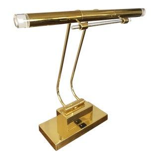 Vintage Brass Lucite Desk Lamp