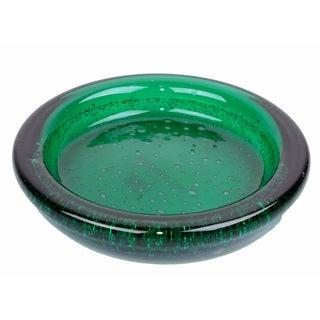 Green Bubbled Murano Bowl