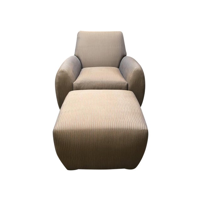 Dakota Jackson Ke-Zu Chair & Ottoman Set - Image 1 of 9