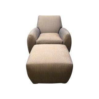 Dakota Jackson Ke-Zu Chair & Ottoman Set