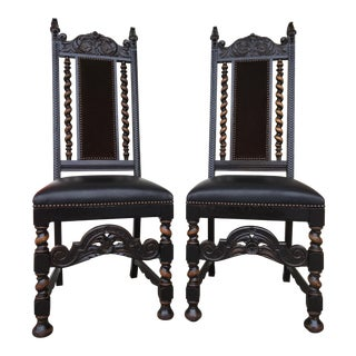 English Hall Chairs - A Pair