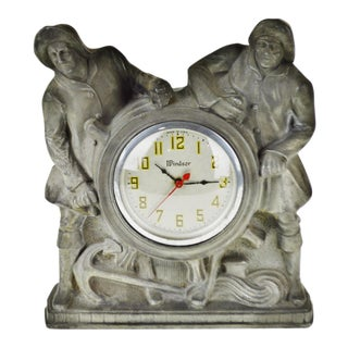 Art Deco Gibraltar Mantle Clock Nautical Mariner Theme