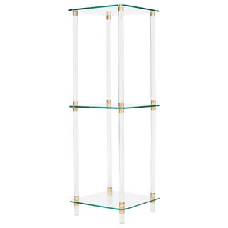 French Mid-Century Modern Lucite Side Table
