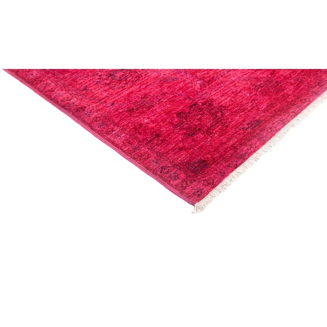 New Over-Dyed Fuchsia Rug - 8′1″ × 10′1″ - Image 2 of 3