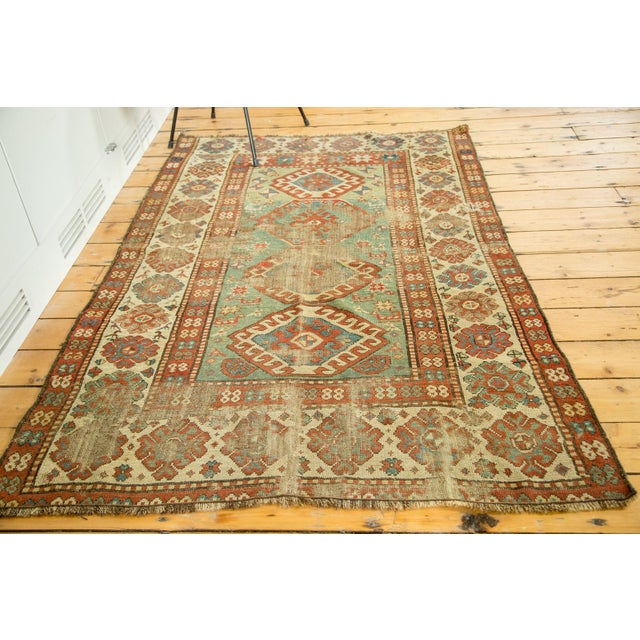 "Antique Kazak Rug - 4'2"" X 6'3"" - Image 4 of 9"