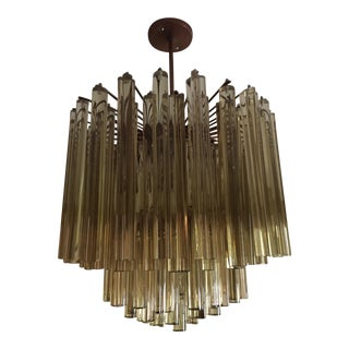 1970s Camer Glass Crystal Chandelier