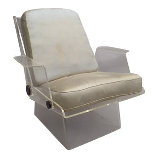 French Mid-Century Modern Plexiglass Armchair