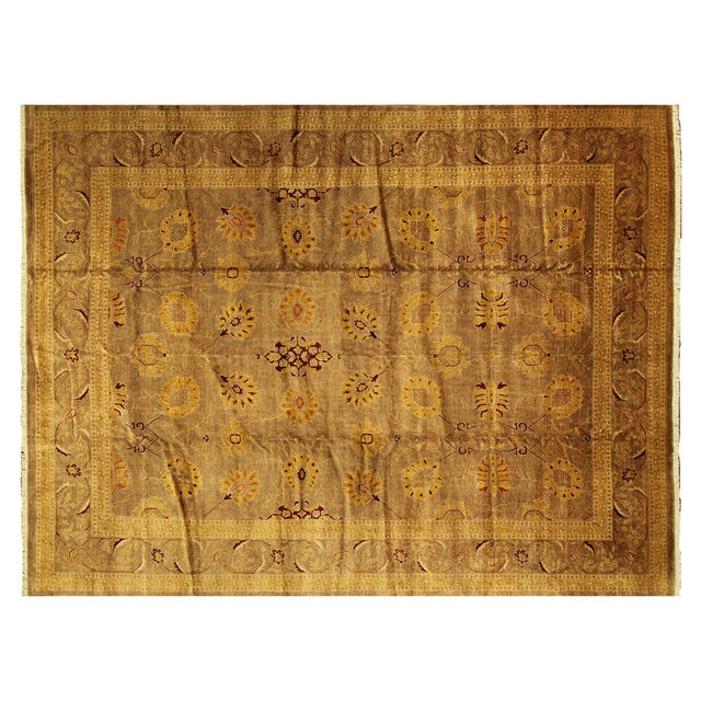 """Oushak Collection Brown Rug - 12'1"""" x 15'10"""" - Image 1 of 10"""