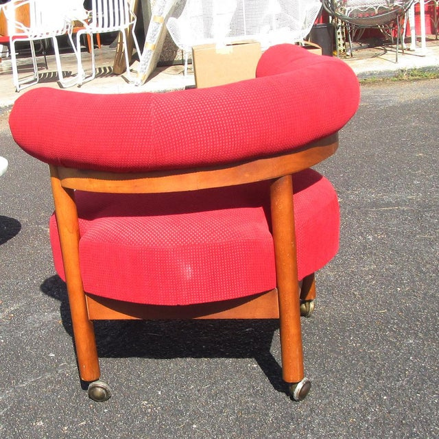 Mid Century Hollywood Regency Barrel Style Chairs - A Pair - Image 5 of 6