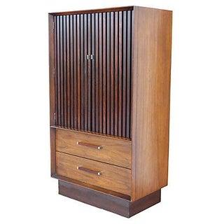 Lane Furniture Rosewood & Walnut Armoire