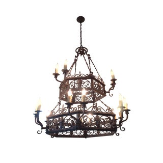 Arte De Mexico 2 Tier Wrought Iron Chandelier