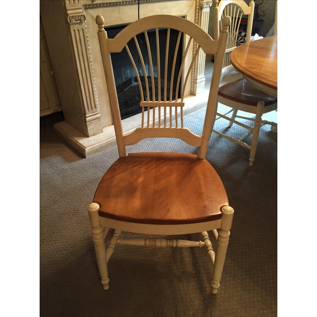 Ethan allen french country dining set chairish for Ethan allen french country bedroom furniture