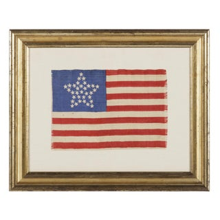 """33 STARS IN A """"GREAT STAR"""" PATTERN, A RARE AND EXTRAORDINARY EXAMPLE, PRE-CIVIL WAR THROUGH THE WAR'S OPENING YEAR, 1859-1861, OREGON STATEHOOD"""