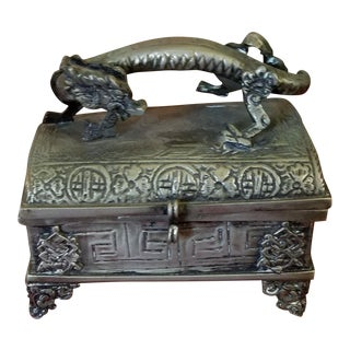 Asian Metal Trinket Box