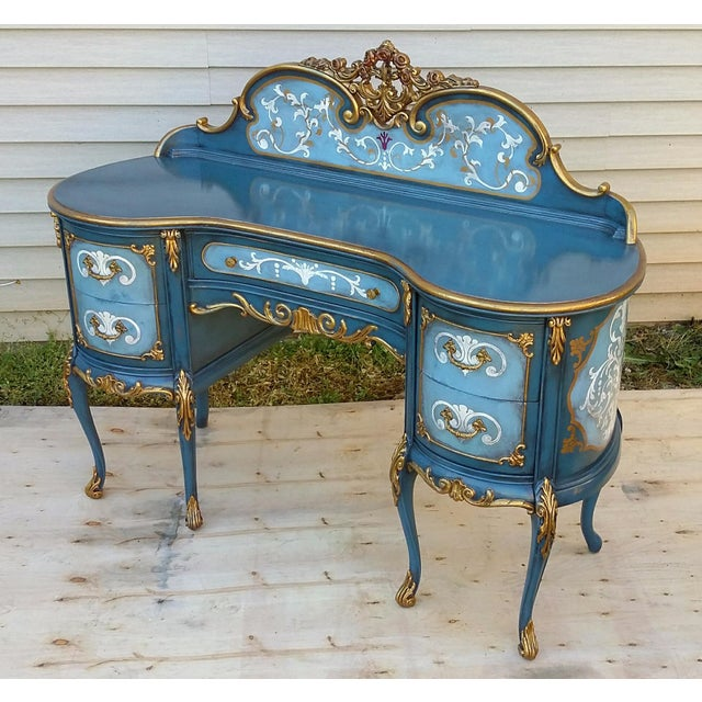 Hand-Painted French Desk - Image 2 of 10