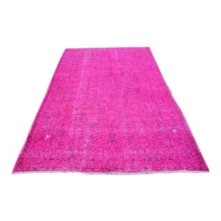 Turkish Pink Overdyed Rug - 5′11″ × 9′7″