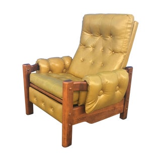 Danish Modern Vinyl Rocking Recliner