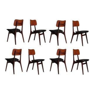 Eight Kofod Larsen Danish Teak Dining Chairs