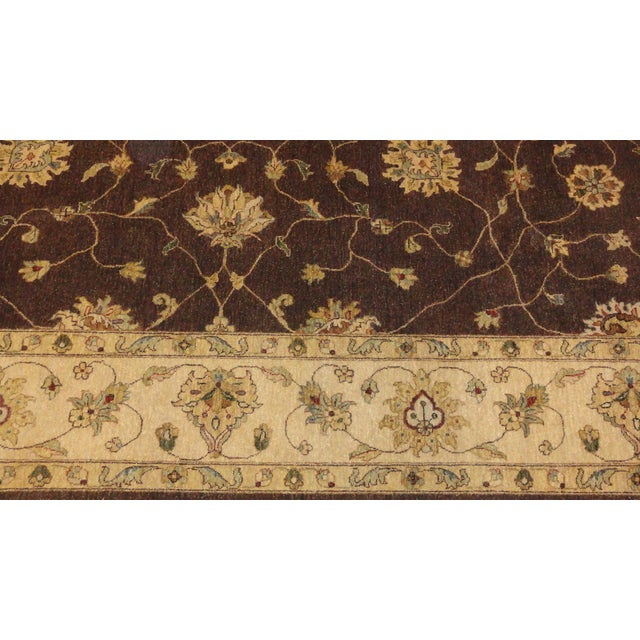 "Brown & Tan Floral Zeigler Rug - 9'2' x 12'5"" - Image 3 of 4"