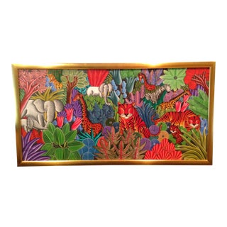 Large Pierre Maxo Jungle Painting