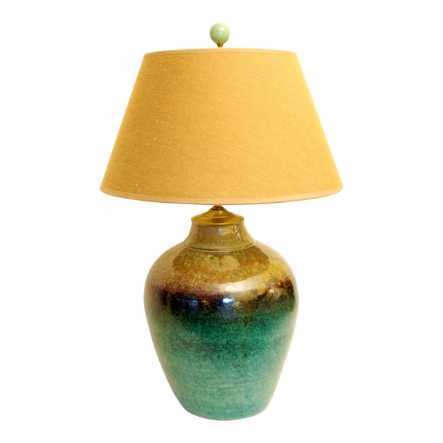 Viridian Pottery Table Lamp - Image 1 of 5