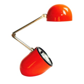 Vintage Red Collapsible Task Light