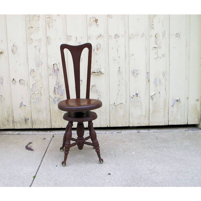 Civil War Piano Chair - Image 6 of 7
