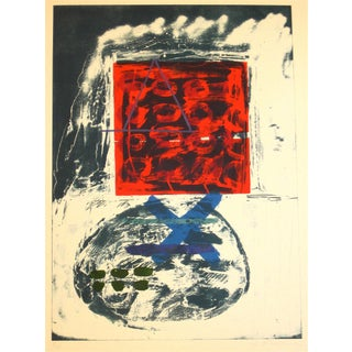 Abstract Expressionist Lithograph