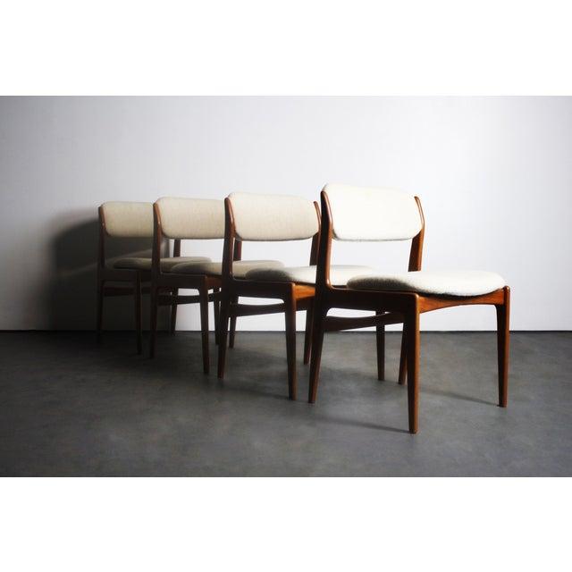 Benny Linden Teak Modern Dining Chairs Set Of 4 Chairish