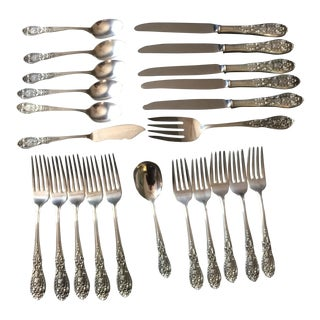 "Easterling Sterling Flatware ""Southern Grandeur"" 23 Pieces"