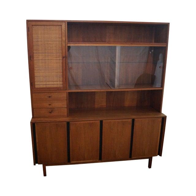 Danish Modern Style Teak Buffet Base Hutch Cabinet - Image 1 of 10