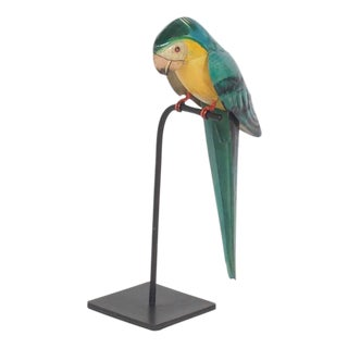 Vintage Parrot on Stand, Great Colors