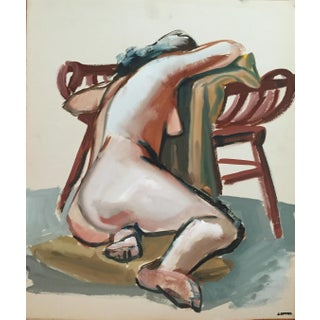 1940-1950's Figurative Nude Painting
