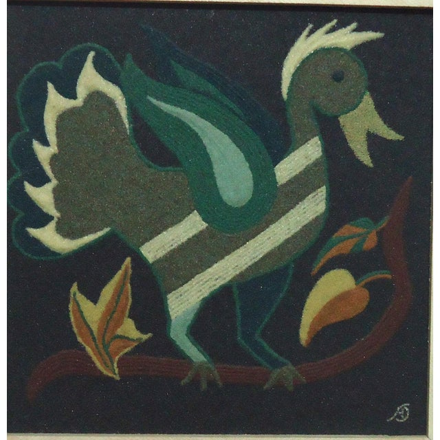 Folk Art Duck Sand Painting - Image 3 of 9