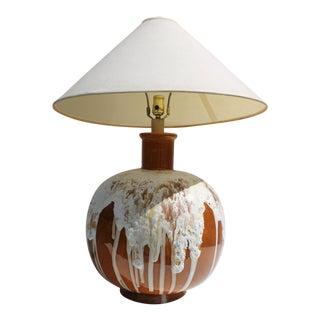 Mid-Century Drip Glaze Lava Table Lamp