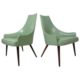 Mid-Century Highback Armchairs - A Pair
