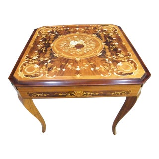 Inlaid Sorrento Game Table