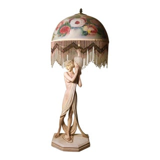 Art Nouveau Nude Figurine Table Lamp