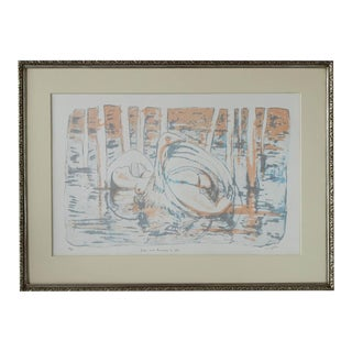 Leda and the Swan Lithograph