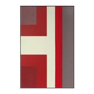 """Abstract Ron Burgundy No. 1"" Framed Fine Art Giclée Print"