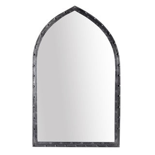 Iron Rivet Arched Mirror