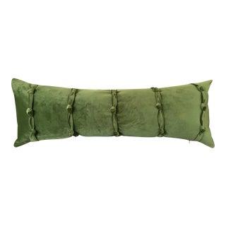 Green Velvet Lumbar Pillow