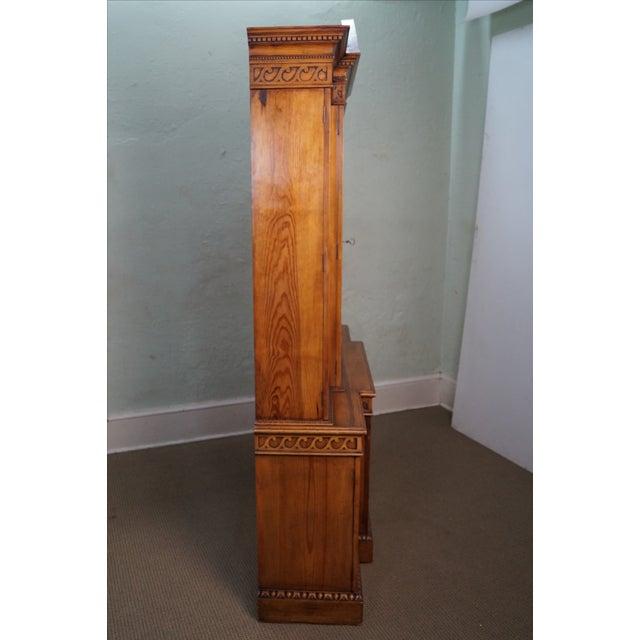 Custom Made English Regency Pine Breakfront - Image 7 of 10
