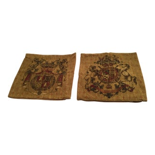 Leopard Blazon Tapestry Pillow Covers - A Pair