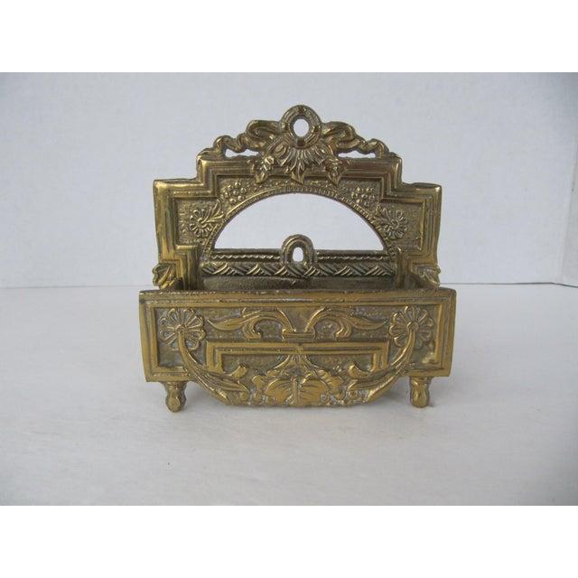 Vintage Brass Business Card Holder - Image 3 of 5